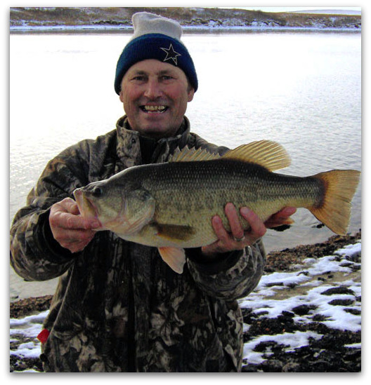 Bass Fishing Power Plant Lakes In The Winter